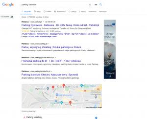 Reklama parkingu w Google Ads